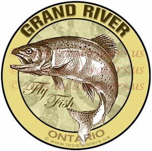 Grand River Sticker Fly Fishing Decal Ontario Canada Trout