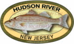 Hudson River New Jersey Striped Bass Sticker
