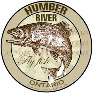 Humber River Sticker Fly Fishing Decal Ontario Canada Trout Fish