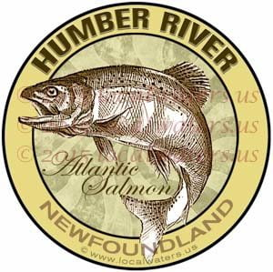 Humber River Sticker Atlantic Salmon Decal Newfoundland Canada