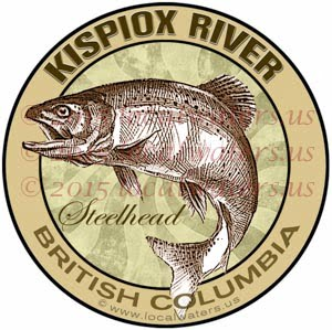 Kispiox River Sticker Steelhead Decal British Columbia Canada Fly Fishing Trout