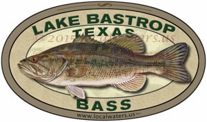 Lake Bastrop Sticker Bass Fishing Decal Texas