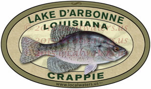 Lake D'Arbonne Sticker Crappie Decal Fishing Louisiana