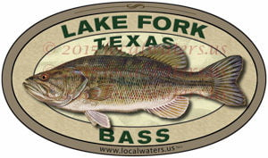 Lake Fork Fishing Sticker Texas Bass Decal
