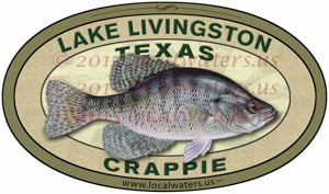 Lake Livingston Fishing Sticker Texas Crappie Decal