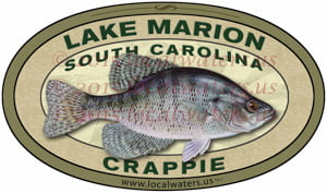 Lake Marion Crappie Sticker Fishing Decal South Carolina