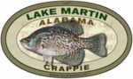 Lake Martin Crappie Sticker Fishing Decal Alabama