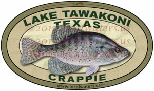 Lake Tawakoni Sticker Crappie Fishing Decal Texas
