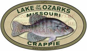 Localwaters eleven point river sticker smallmouth bass for Crappie fishing lake of the ozarks