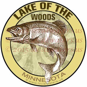 Lake of the Woods Sticker Fishing Decal Minnesota Trout Fish Walleye Northern Pike