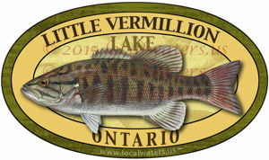 Little Vermillion Lake Sticker Smallmouth Bass Decal Ontario Canada
