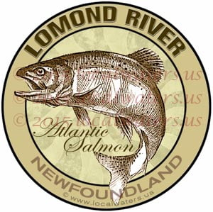 Lomond River Sticker Atlantic Salmon Decal Newfoundland Canada