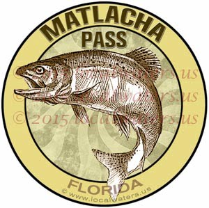 Matlacha Pass Sticker Florida Fishing Decal Inshore Pine Island