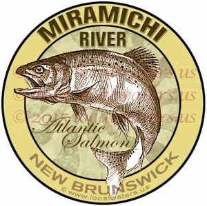 Miramichi River Sticker Atlantic Salmon Decal New Brunswick Canada