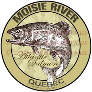 Moisie River Sticker Atlantic Salmon Decal Fishing Quebec Canada
