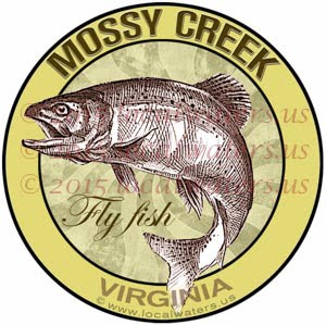 Mossy Creek Sticker Fly Fishing Decal Virginia Trout Fish