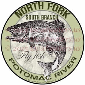 North Fork South Branch Potomac River Sticker Fly Fishing Decal Trout Fish