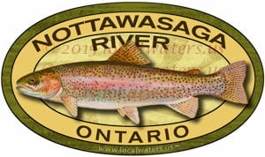 Nottawasaga River Sticker Rainbow Trout Fishing Decal Ontario