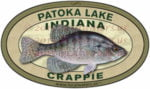 Patoka Lake Crappie Sticker Indiana Fishing Decal