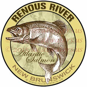 Renous River Sticker Atlantic Salmon Fishing Decal New Brunswick Canada