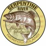 Serpentine River Sticker Atlantic Salmon Decal Newfoundland Canada