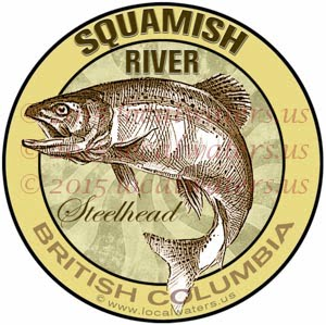 Squamish River Sticker Steelhead Decal British Columbia Canada Fly Fish Trout