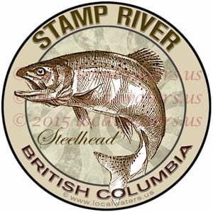 Stamp River Sticker Steelhead Decal British Columbia Canada Fly Fishing Trout Salmon