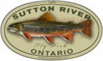 Sutton River Sticker Brook Trout Decal Fly Fishing Ontario Canada