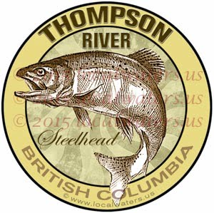 Thompson River Sticker Steelhead Decal British Columbia Canada Fly Fishing Trout Salmon Emblem logo