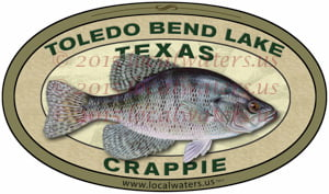 Toledo Bend Lake Crappie Sticker Texas Fishing Decal