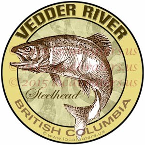 Vedder River Sticker Steelhead Decal British Columbia Canada Fly Fishing Trout Salmon