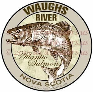 Waughs River Sticker Atlantic Salmon Decal Nova Scotia Canada