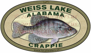 Weiss Lake Sticker Crappie Fishing Decal Alabama