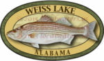 Weiss Lake Sticker Striped Bass Decal Alabama Fishing