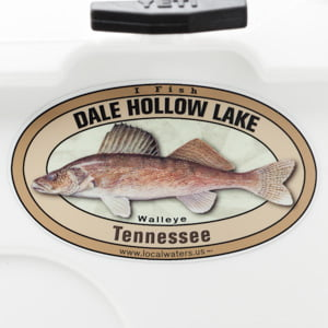 Dale Hollow Lake Walleye sticker Tennessee Decal fishing