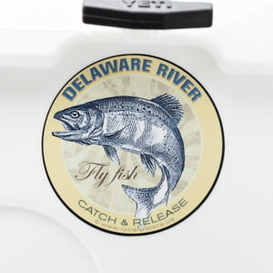 Delaware River Fly Fishing Sticker Decal Catch and Release