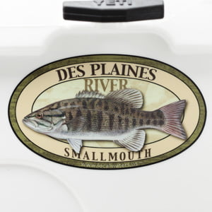 Des Plaines River Smallmouth Bass sticker fishing decal