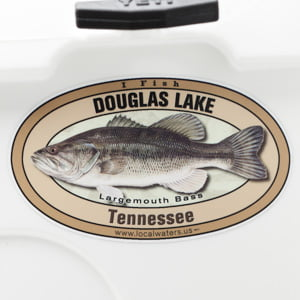 Douglas Lake Largemouth Bass sticker Tennessee Decal
