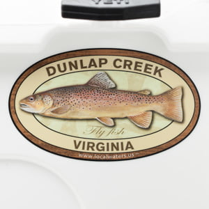 Duck River Smallmouth Bass Fishing sticker Tennessee Decal Logo Badge