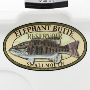 Elephant Butte Reservoir smallmouth bass sticker decal New Mexico