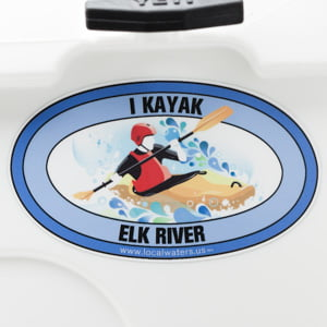 Elk River Kayak sticker paddle decal