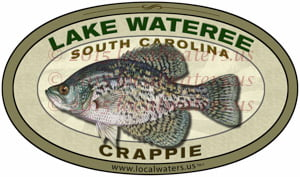Lake Wateree South Carolina Crappie Fishing Decal Sticker