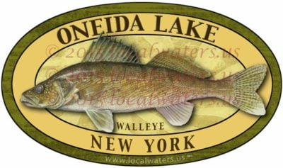 Oneida Lake New York Walleye Fishing Decal Sticker
