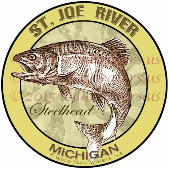 St Joe River Saint Joe Steelhead Fishing decal sticker logo