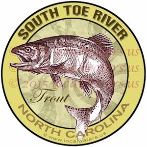 South Toe River Trout Fishing North Carolina Fly Fishing Sticker Decal