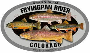 Fryingpan Frying Pan River fishing sticker grand slam trout