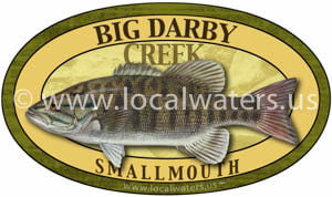 Big Darby Creek Smallmouth Bass Fishing Ohio