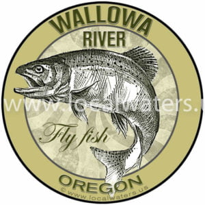 Wallowa River Sticker Fly Fishing Decal Oregon logo