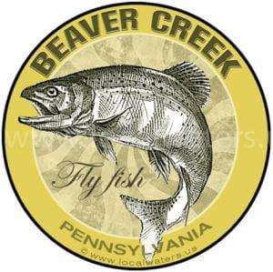 Beaver Creek Fly Fish Sticker Pennsylvania Decal Logo