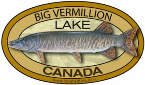 Big Vermillion Lake Ontario Canada Muskellunge sticker fishing decal logo